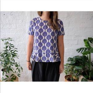 KATE SPADE x Florence Broadhurst printed silk top